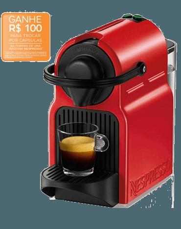 cafeteira nespresso vermelha