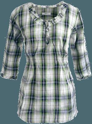 Blusa xadrex bonprix verde