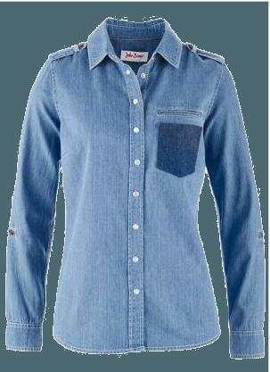 camisa feminina jeans bonprix
