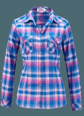 Camisa xadrex manga longa azul bonprix