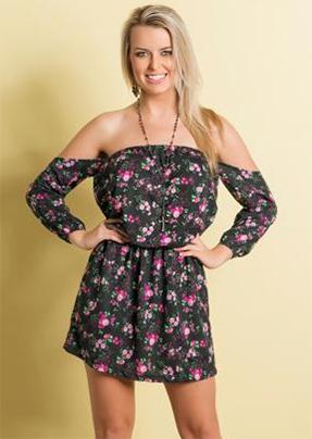 vestido ciganinha floral moda pop