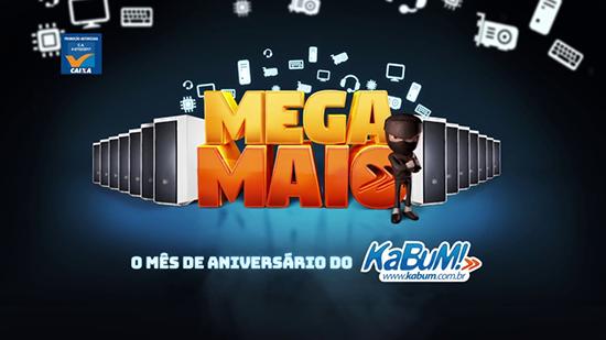 Kabum - Mega Maio - Eletrônicos, TVs, celulares, smartphones, instrumentos musicais, e muito mais em promoção