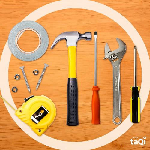 Coleção de ferramentas: um dos produtos vendidos pelas lojas TaQi