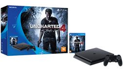 Cupom de desconto - Console Playstation 4 Slim HD 500 Gb + Jogo Uncharted 4 por R$ 1619