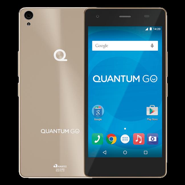 Cupom de desconto - R$ 380 OFF + 7% OFF no Boleto em Smartphone Quantum GO 4G 16GB Gold