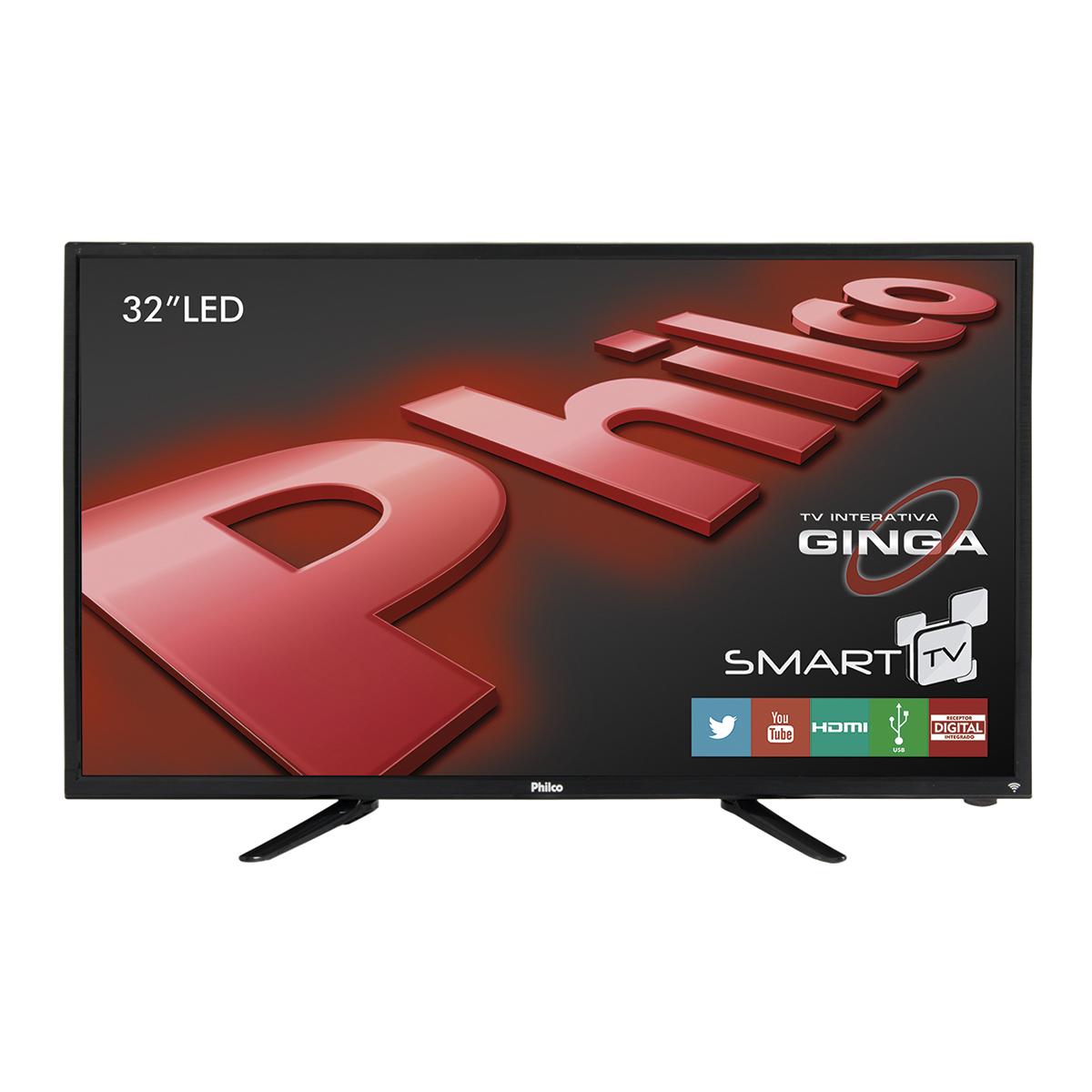 """Cupom de desconto - Smart TV LED 32"""" Philco  Por R$ 1.099"""