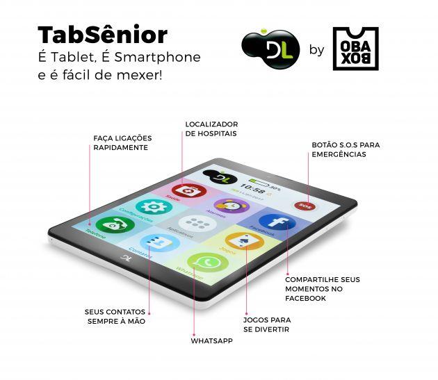 Cupom de desconto - Tablet TabSênior DL por R$ 699