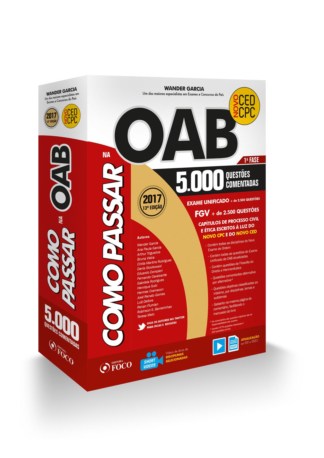 Cupom de desconto - 20% OFF em COMO PASSAR NA OAB - 1ª FASE - 5.000 Questões Comentadas