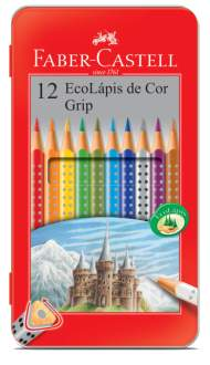 Cupom de desconto - 12 Ecolápis de Cor + Estojo Lata  por R$ 16