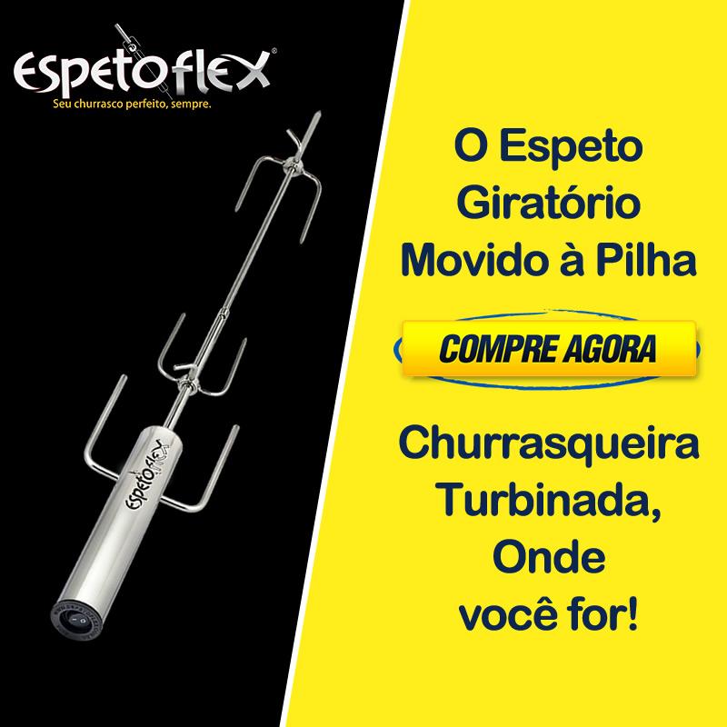 Cupom de desconto - Espeto Giratório Movido à Pilha - Espetoflex Por R$159,90