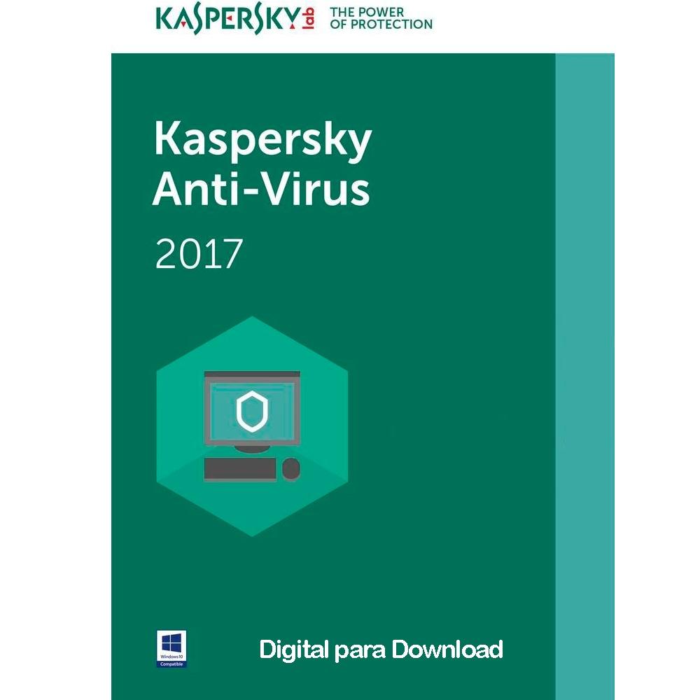 Cupom de desconto - Kaspersky Antivírus 2017 1 PC Por R$ 29,90