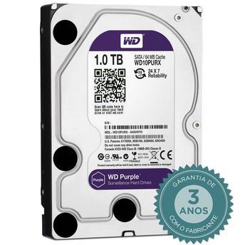 Cupom de desconto - R$ 41 OFF em HD Interno WD Purple 1TB SATA III 6GB/s