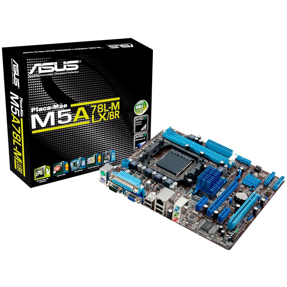 Cupom de desconto - 16% OFF em Placa-M‹e ASUS p/ AMD AM3+ mATX M5A78L-M LX/BR, 2xDDR3