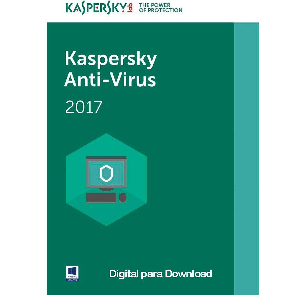 Cupom de desconto - 14% OFF em Kaspersky Antiv'rus 2017 1 PC - Digital para Download