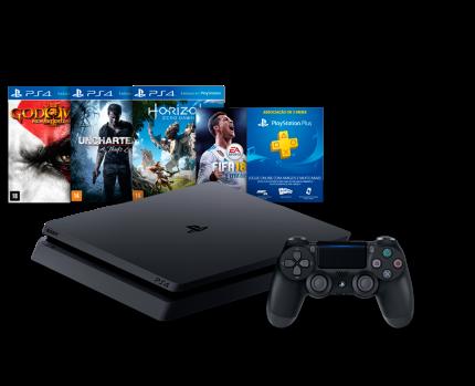 Cupom de desconto - R$650 OFF em Console PS4 4 Slim - HD 500 Gb + 4 Jogos