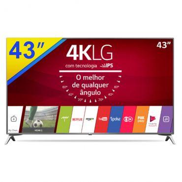 Cupom de desconto - R$1100 OFF em Smart TV LG 43 Ultra HD 4K com Wi-Fi Integrado