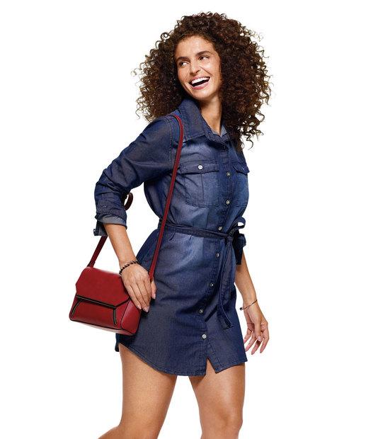 Cupom de desconto - Vestido Feminino Jeans Por R$99,95