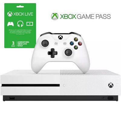 Cupom de desconto - Xbox One S + 3 Meses Live Gold + 3 Meses Gamepass Por R$1699