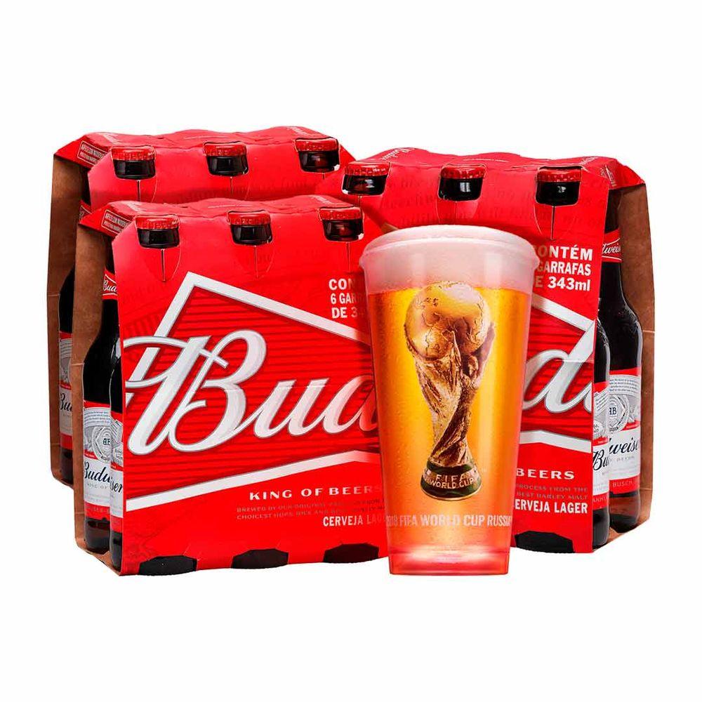 Cupom de desconto - Na Compra de 3 Packs Budweiser Leve Copo Oficial Por R$9,90