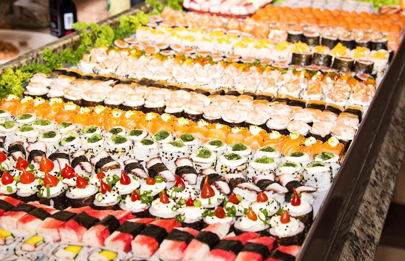 Cupom de desconto - 46% OFF em Buffet Japonês Livre no Jantar