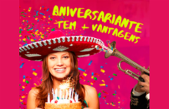 Cupom de desconto - 50% OFF em Aniversário no Guacamole para 11 Pessoas