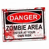 Cupom de desconto - Placa - Danger Zombie Area - Blood Edition por R$ 26,90