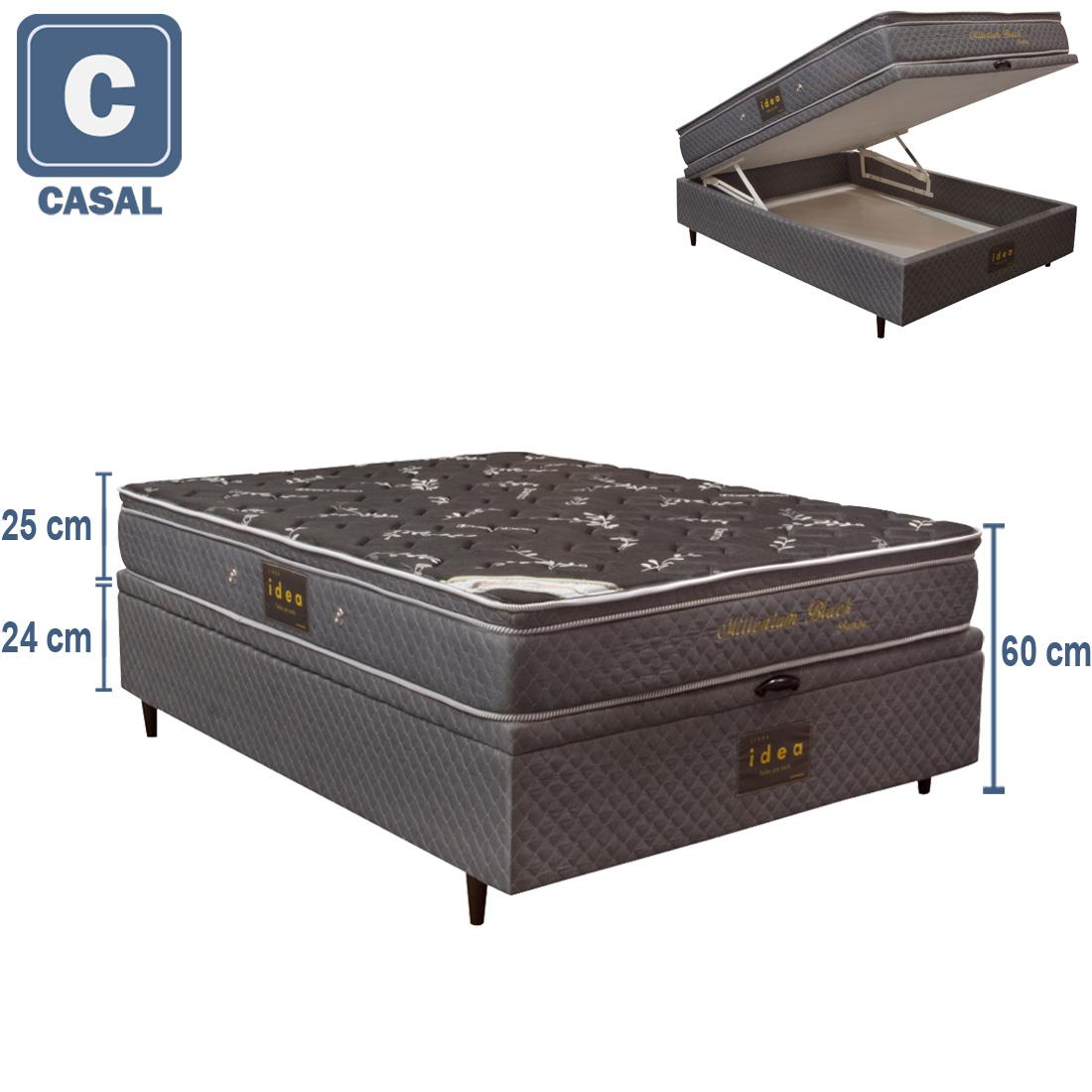 Cupom de desconto - 44% OFF em Cama Box Queen Size Herval + Colchão Millenium Bambu