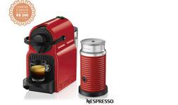 Cupom de desconto - 30% OFF em Cafeteira Nespresso Inissia Rubi para Cafe Espresso + Espumador de Leite Aeroccino