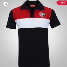 Cupom de desconto - Camisa Polo São Paulo Racer Masculina por R$ 48